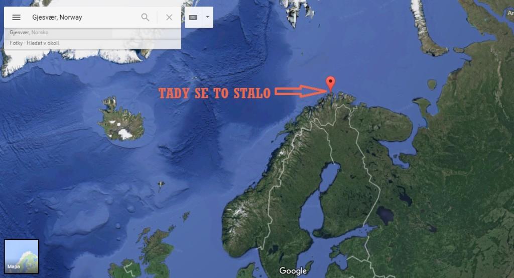 Ta mapa, kterou nevidíte, je důkaz, že jsem byla na severu. Hodně na severu.