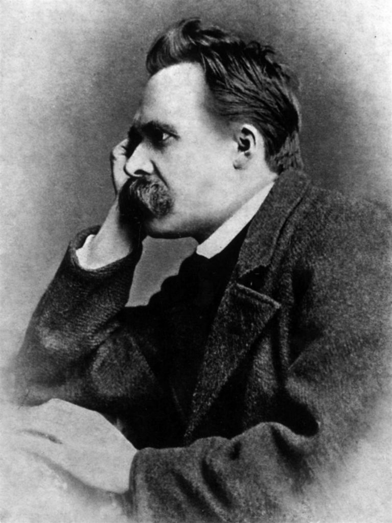 Portrait of Friedrich Nietzsche, 1882; One of five photographies by photographer Gustav Schultze, Naumburg, taken early September 1882. Public domain due to age of photography. Scan processed by Anton (2005)