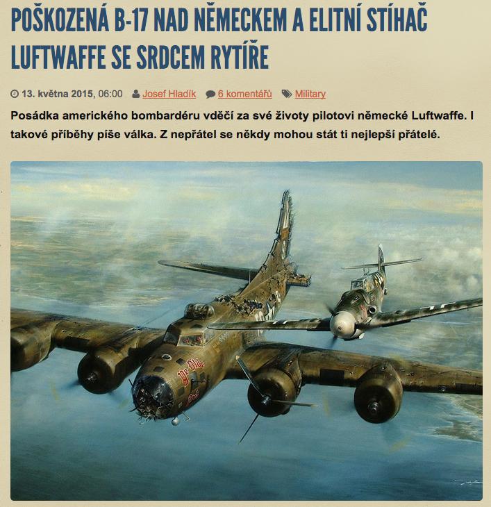 Ať už je B-17 cokoli, divili byste se, jak moc lidí o tom rádo čte internetové články!