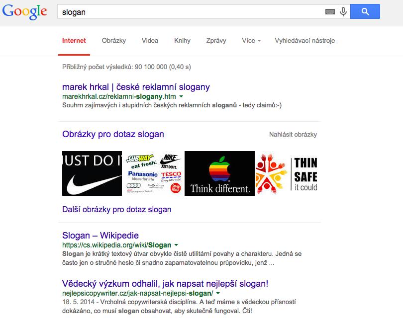 Titulek ve snippetu Googlu se generuje z metatitulku. A ten se zase zpravidla automaticky generuje z hlavního nadpisu (H1).