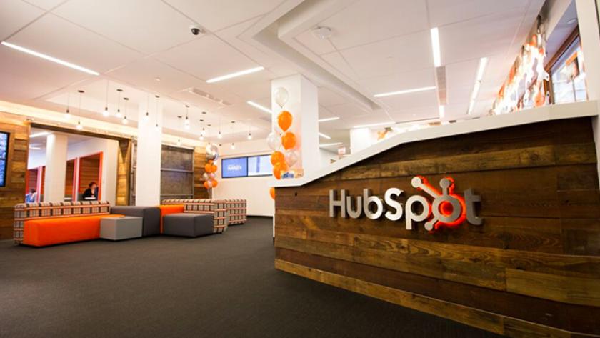 Recepce bostonské společnosti Hubspot – fotku jsem převzal z magazínu Fortune.